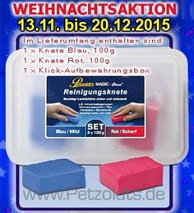 2x 100g Reinigungsknete MAGIC-Clean Blau und Rot, Lackreinigung