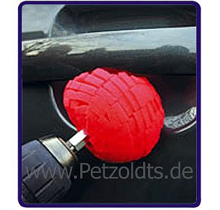 Schaumstoff-Polierball, Rot, 70 mm, f�r Bohrfutter