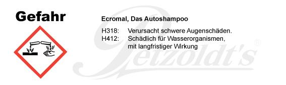 Das Autoshampoo; CLP/GHS Verordnung