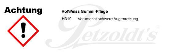 Gummi-Pflege, RotWeiss CLP/GHS Verordnung