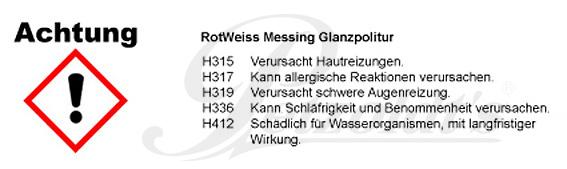 RotWeiss Messing Glanzpolitur CLP/GHS Verordnung
