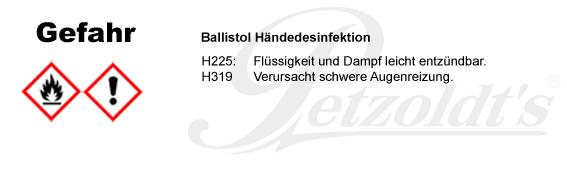BALLISTOL Händedesinfektion, CLP/GHS Verordnung