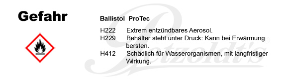 ProTec, Ballistol, CLP/GHS Verordnung