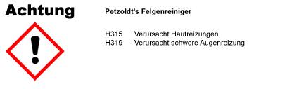 Felgenreiniger CLP/GHS Verordnung
