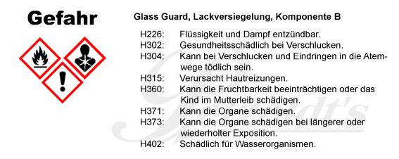 Glass Guard, Lackversiegelung, Komponente B, CLP/GHS Verordnung