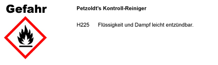 Kontroll-Reiniger CLP/GHS Verordnung