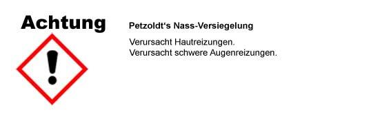Petzoldts Nass-Versiegelung, CLP/GHS Verordnung