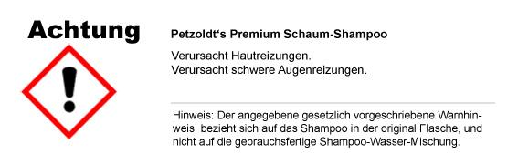Schaum-Shampoo; CLP/GHS Verordnung