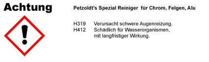 Spezial Reiniger CLP/GHS Verordnung