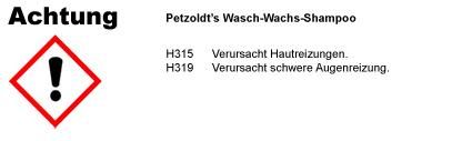 Wasch-Wachs Autoshampoo, CLP/GHS Verordnung