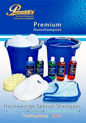 Petzoldt's Fahrzeugpflegeprodukte Premium-Shampoo-Flyer