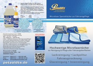 Petzoldt's Microfasertücher zur Fahrzeugpflege