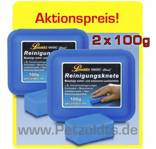 2 x Reinigungsknete, MAGIC-Clean, 100g, Lackreinigung
