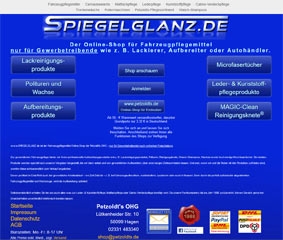 Petzoldt's B2B Online Shop für Fahrzeugpflegemittel